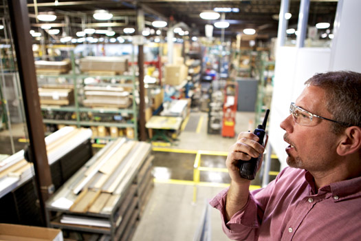 two-way radio in manufacturing