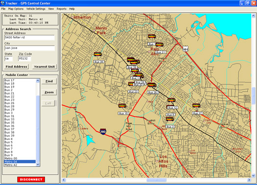 San Francisco GPS Vehicle Tracking