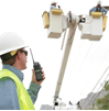 Utilities Worker two-way radio customer