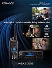 Kenwood two-way radio for public safety