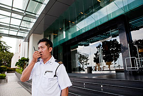 two-way radio hotel security services