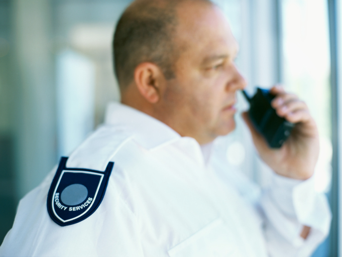 two-way radio for security personnel